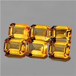 Natural Golden Yellow Citrine 6 Pcs {Flawless-VVS1}