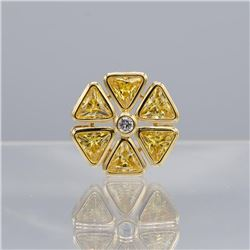 GORGEOUS 14 Kt GOLD PLATED FLOWER PENDANT