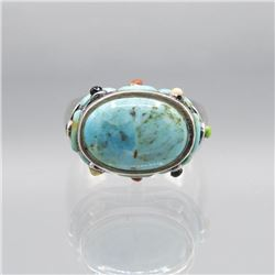 Beautiful Natural 7 Ct Blue Turquoise Ring