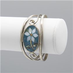 Sterling Silver Turquoise Bangle Cuff Bracelet
