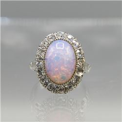 Beautiful 5.5 Ct Color Play Welo Opal Ring