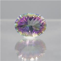 Gorgeous 16.18 Ct Certified Mystic Topaz Soliare