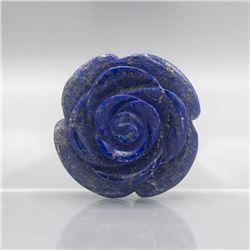 HAND CARVED 335 CT BLUE LAPIS LAZULI ROSE FIGURINE