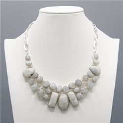 LUMINISCENT 235 CT NATURAL MOONSTONE NECKLACE