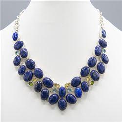 Beautiful 265Ct Natural Blue Lapis Lazuli Necklace