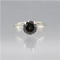 Amazing 3.75 Ct Emerald Green Diamond Ring.