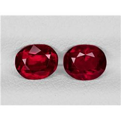 Natural Pigeon Blood Burma  Ruby Pair 5.5x4.5 MM