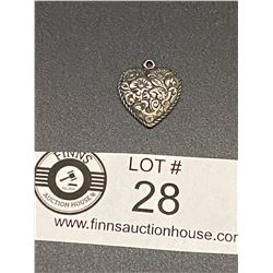 Nicely Detailed Sterling Heart Pendant