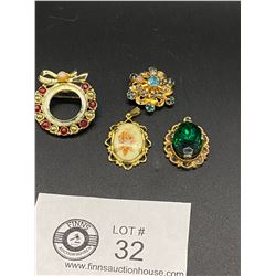 4 Pieces of Vintage Costume Jewelry