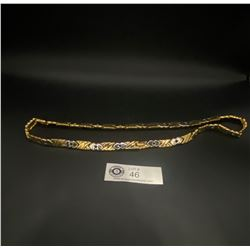 Superb Quality Gold and Silver Plated 1970's Necklace
