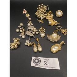 Lot of Pearl Jewelry Pieces and Parts