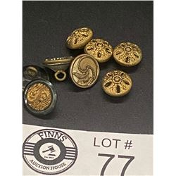 Nice Lot of 8 Victorian Blouse Buttons
