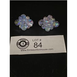 "A Rare Pair of  "" Sherman"" Anethyst Crystal Earrings"