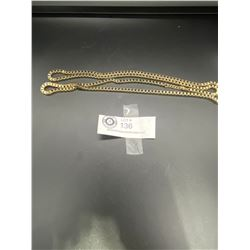 "Huge 40"" Gold Plated Box Link 1970's Chain"