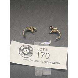 2 Small Sterling Dolphin Charms