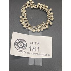 An Indian Silver Hallmarked Baby Bead Bracelet