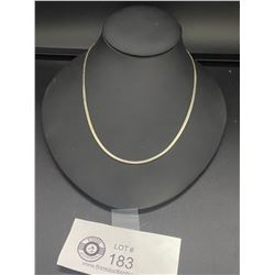 Nice Quality Italian Herringbone Sterling  Necklace