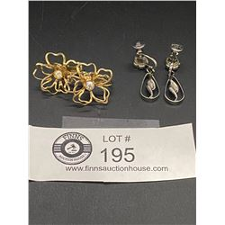 "2 Pairs of Signed "" Coro"" Earrings"