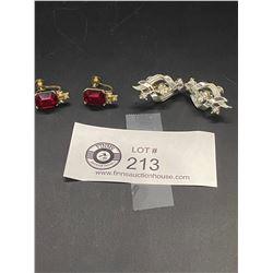 "2 Pairs of Vintage Signed "" CORO"" Earrings"
