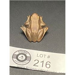 Very Unusual Copper Frog Pin