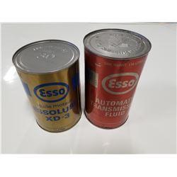 Lot of Two Esso Quart Tins (Full)