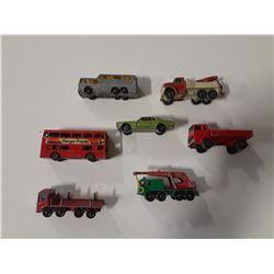 Lot of 7 Vintage Lesney/Matchbox Vehicles