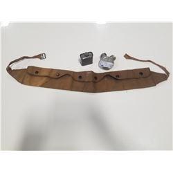 Standard Oil Company Gun Oil Tin, Gun Oiler, & Cartridge Belt