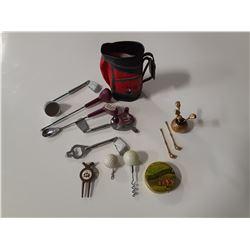 Golf Collectibles Lot (Drink Mix Set, divet replacer, tin, etc)