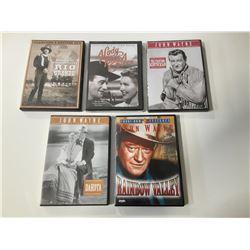 Lot of 5 John Wayne Western DVDs