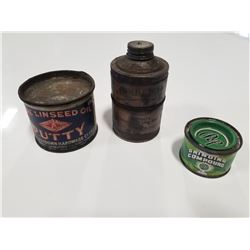 Lot of 3 Gas & Oil Tins
