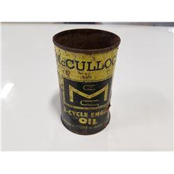 Rare McCulloch Chainsaw Oil Tin