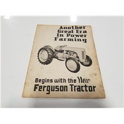 Rare 1948 Ferguson Tractor Sales Brochure Book