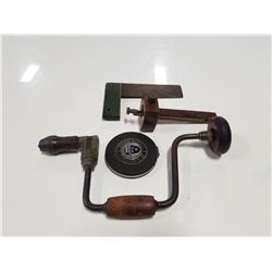 Lot of 4 Antique Carpentry Tools