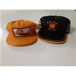 Lot of 2 Shell Oil Hats