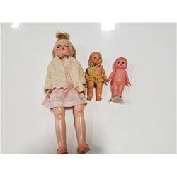 Lot of 3 Vintage Toy Dolls