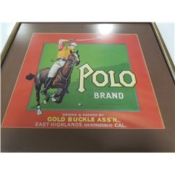 Polo Brand Fruitbox Label Matted and Framed