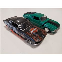 Lot of 2 Maisto 1/24 scale Mustang Diecast Cars