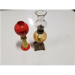 Lot of 2 Small Retro Oil Lamps