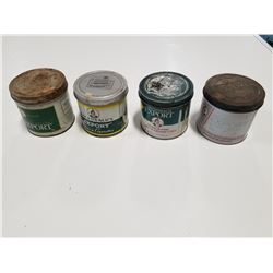Lot of 4 McDonalds Tobacco Tins (different styles)