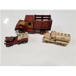 Wooden Toy Truck, Wood Tonka Toy & Resin Car
