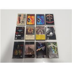 Bulk Lot of Original Hard Rock Cassette Tapes