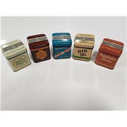 Lot of 5 John Middleton Tobacco Tins