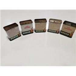 Lot of 5 Nabob Spice Tins