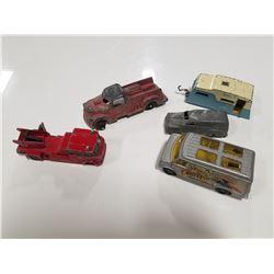 Tootsie, Dinky, Lesney, & Corgi - Mixed toy car parts lot