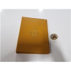 Elks - Order of the Royal Purple- Procedural Handbook & Abalone Shell Embossed Pill Box