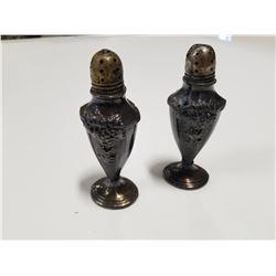 Set of Late 1800s Salt & Pepper Shaker Silverplate