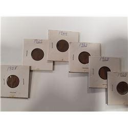 1958-1963 Lot of Canada Pennies