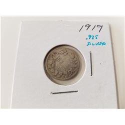 1919 Canada Silver Dime