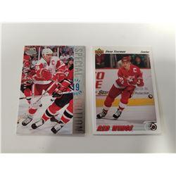 Lot of 2 Upper Deck Steve Yzerman Hockey Cards