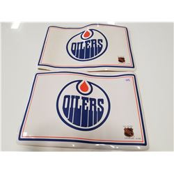 Lot of 2 Vinyl Vintage Oilers Placemats